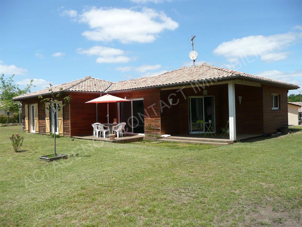Villa de plain pied ossature bois mont de marsan for Villa ossature bois