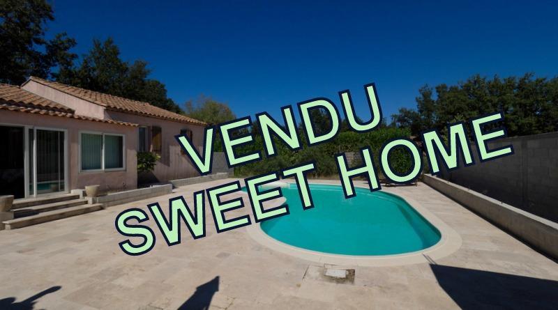VILLA T4 FORCALQUEIRET véranda de 20 m² donnant accès à la piscine