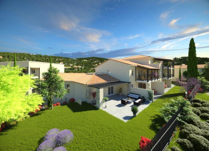 villa neuve proche du centre ville d 39 aix en provence au calme avec garage et places de parking. Black Bedroom Furniture Sets. Home Design Ideas
