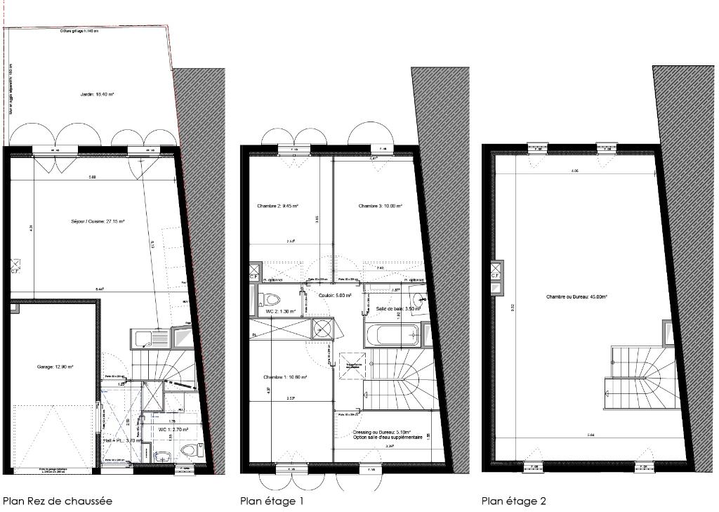Maison de type 5 de 123 m2  avec jardinet (83870) Signes